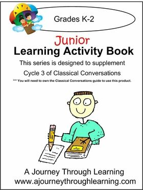 JUNIOR Classical Conversations Cycle 3 Learning Activity Book Weeks 1-24 #classicalconversations