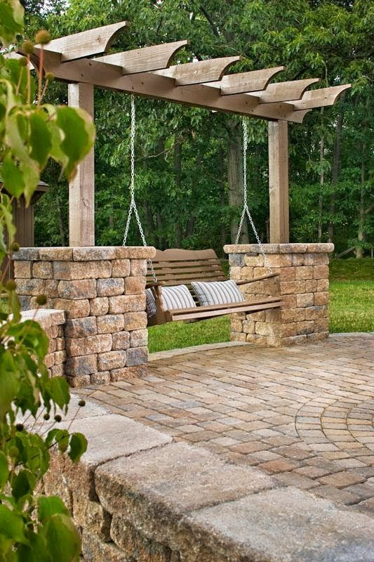 Perfect idea for the swing without a porch!