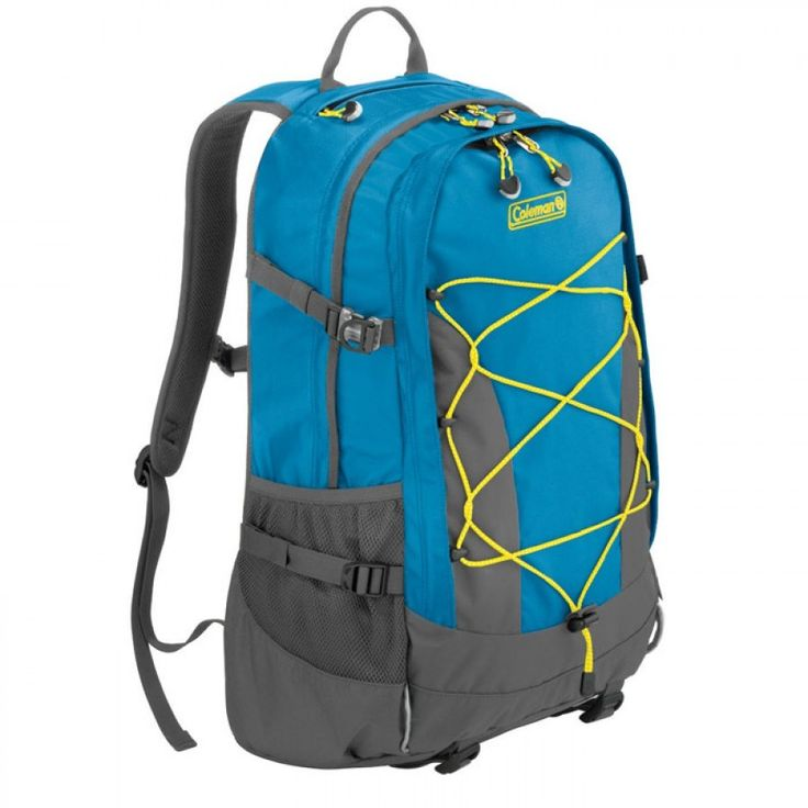 Coleman Hayden Creek 40L - Coleman Neon Blue Description With the Hayden Creek 40L you'll have a comfortable backback with a reinforced back panel and storage capacity of up to 40L. It also includes padded shoulder straps, a stowable waist belt, adjustable sternum strap and a vertical zip in the external front pocket. Available in blue (Neon blue). buy now:http://bit.ly/2feSJtx