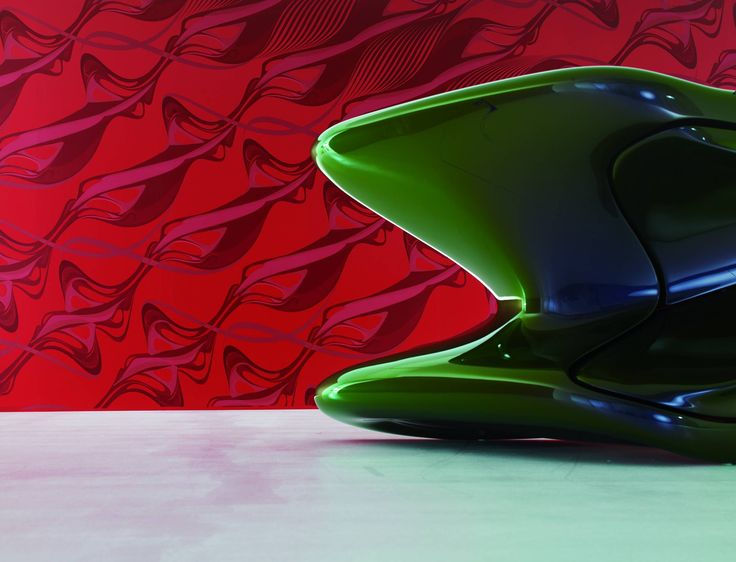 Wallpapers :: Modern :: Zaha Hadid Swirl Part I Red No 1365   WallpaperShop
