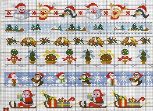 15 graficos navideños en punto de cruz gratis15