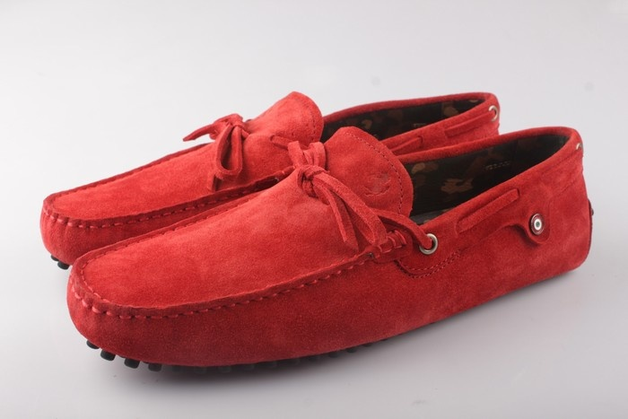 Tods Ferrari Red Shoes Loafers For Men