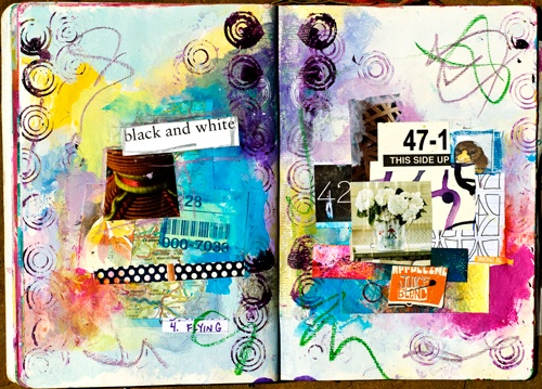 """Art journaling is about the [creative process] of pulling together color, words and images as you wish on a page. Unlike many other forms of art, it is not about the outcome.""  Tammy Garcia"