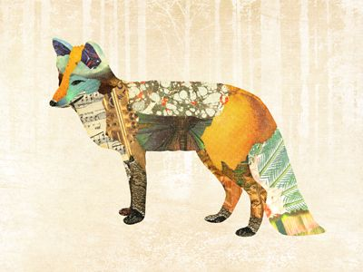 Inspiration, Animal Art, Art Design, Woodland Creatures Collage, Foxes, Gerren Lamson, Mountain Haring, Art Illustration, Foxy Things