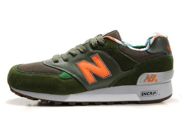 New Balance M577GO 2012 Herren Schuhe Dunkelgrün/Braun/Orange/Grau Online Shop Günstig