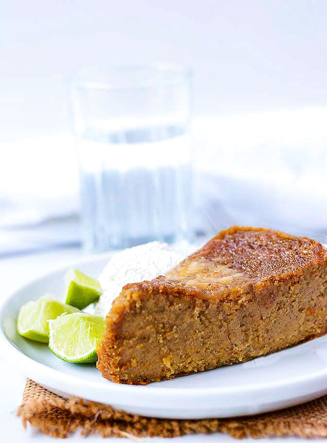 Vegan Jamaican Sweet Potato Pudding is the vegan version of this popular dessert enjoyed in Jamaica and the Caribbean throughout the year! It is ve