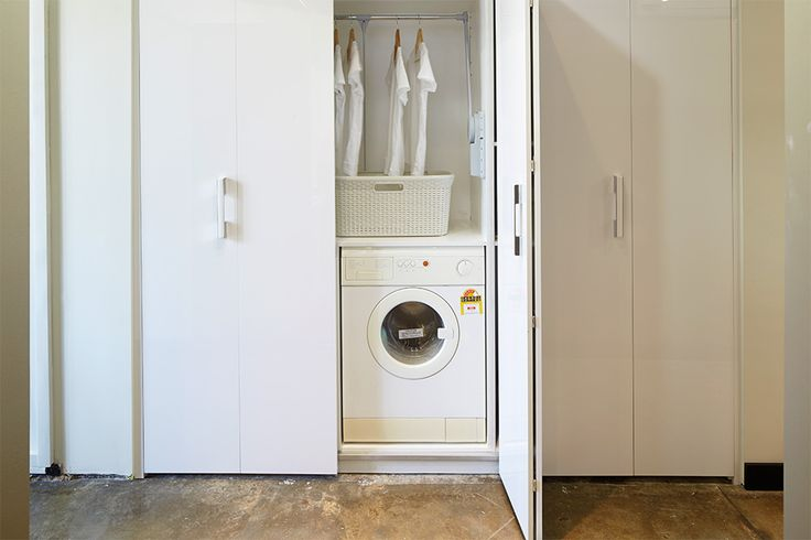 Contemporary Laundry design ideas for a hidden laundry or a custom makeover. Speak with one of our design specialist today about your new laundry. Call 1300 696 468