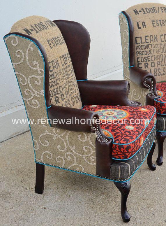 Custom Order Vintage Custom Wingback Chair by ReNewalHomeDecor