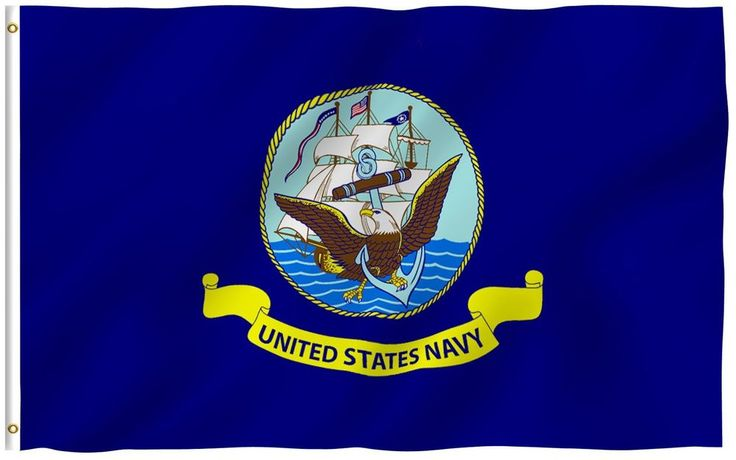 USA Armed Forces Navy Flag 3x5 Ft Fly Breeze Boat On Water Flag W Brass Grommets #Anley