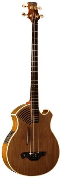 Though mostly known for their 6-string guitar offerings, Parker also has this acoustic/electric bass - four string, lovely warm wood.