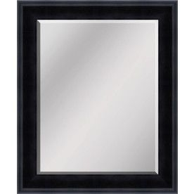 Gallery One  In X In Antique Bronze Beveled Rectangle Framed Transitional Wall Mirror