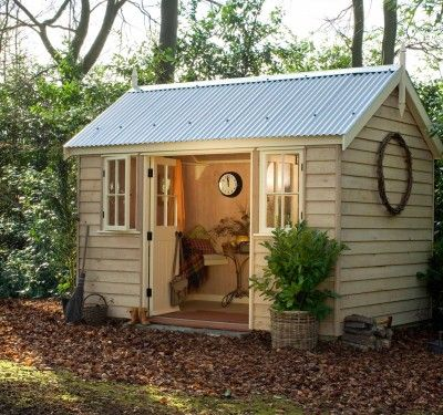 Add a chair or two and your garden shed can become your retreat!