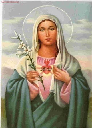 PRECIOSA POSTAL DEL SAGRADO CORAZON DE MARIA (Postales - Religiosas y Recordatorios)