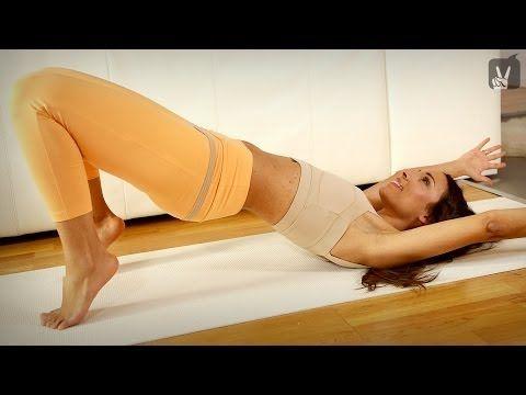 Pilates Anfänger Workout: Das Training für eine Topfigur mit Amiena Zylla! - YouTube