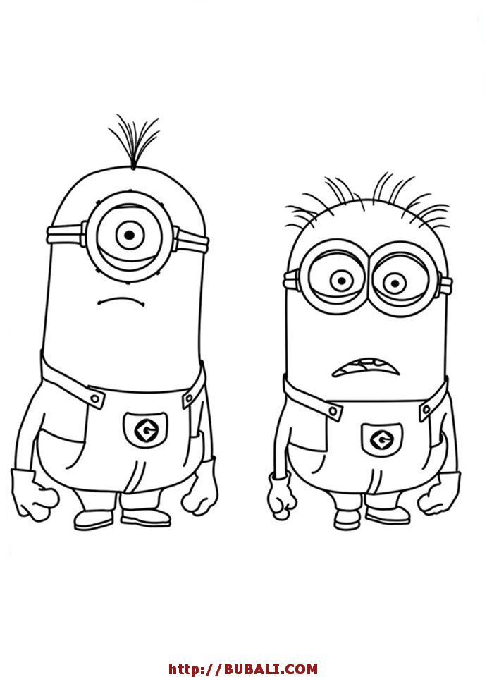 minion stuart and jerry is shocked the minion coloring page stuart and jerry is shocked the minion coloring page