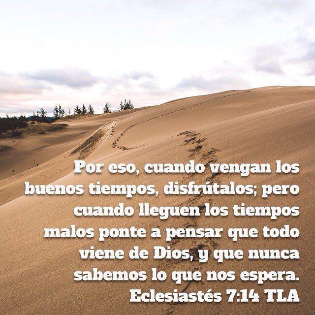 Por eso cuando vengan los buenos tiempos disfrútalos; pero cuando lleguen los tiempos malos ponte a pensar que todo viene de Dios y que nunca sabemos lo que nos espera. Eclesiastés 7:14 @youversion #buenosdias #islademargarita #venezuela