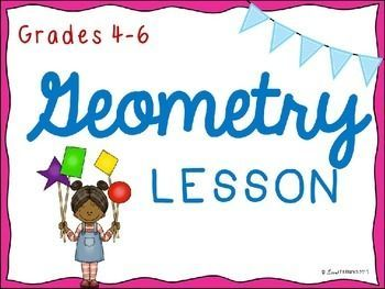 """This 58 slide presentation includes teacher suggestions and reviews geometric terms along with the following concepts:   1. Regular and Irregular Polygons 2. 2-dimensional and 3-dimensional Figures 3. Types of Quadrilaterals and their Attributes 4. Types of Triangles (both sides and angles) 5. Two """"Deep Thinking"""" questions that encourages students to demonstrate their knowledge"""