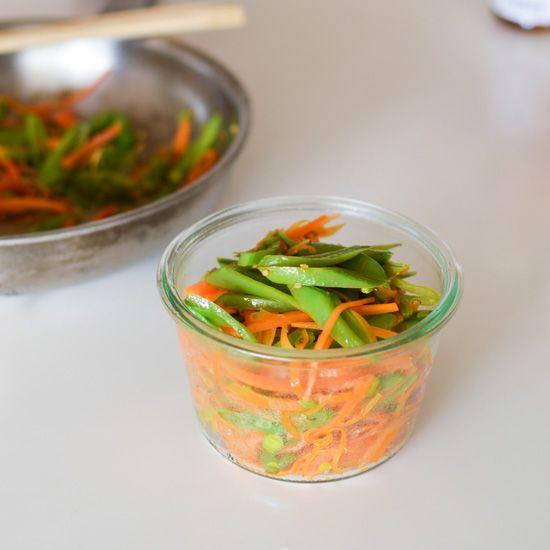 人参とスナップえんどうを使った簡単レシピ。彩り鮮やかなこのレシピはお弁当で明るい彩りを加えてくれる事間違いなし!夕ご飯に副菜として出しても美味しいレシピです。