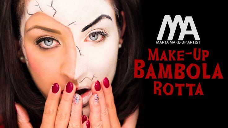 Un'idea di makeup per Halloween molto divertente e facile da realizzare. Sembrerete delle bambole o delle marionette rotte, come nella variante che ho realiz...
