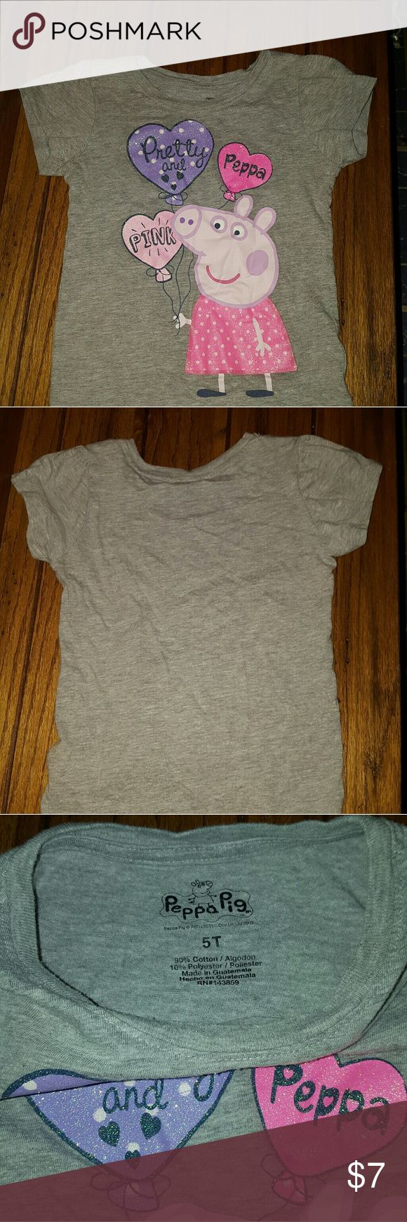 Peppa Pig Girls Shirt Size 5T Previously enjoyed.   Size 5T Peppa Pig girls shirt. Peppa Pig Shirts & Tops Tees - Short Sleeve