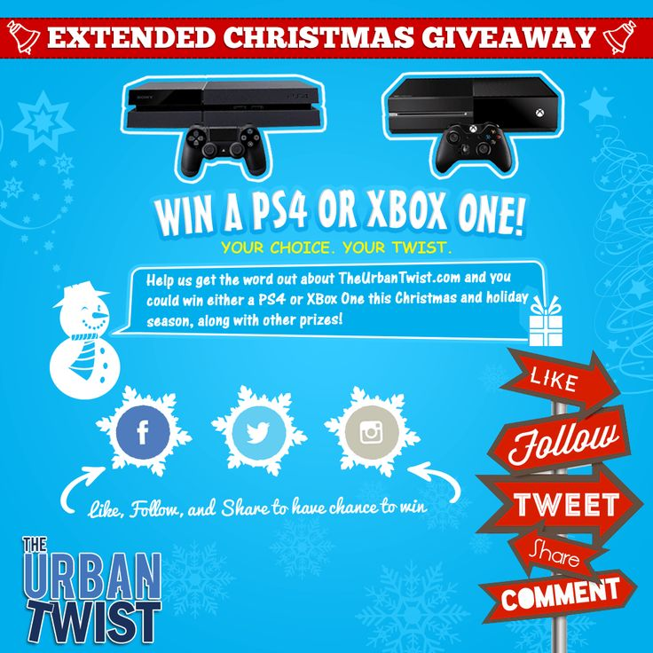 Win a PS4 or Xbox One, the Choice is up to You! http://theurbantwist.com/giveaways/win-a-ps4-or-xbox-one-the-choice-is-up-to-you/?lucky=2329 via @theurbantwist