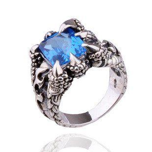 Blue dragon ring.