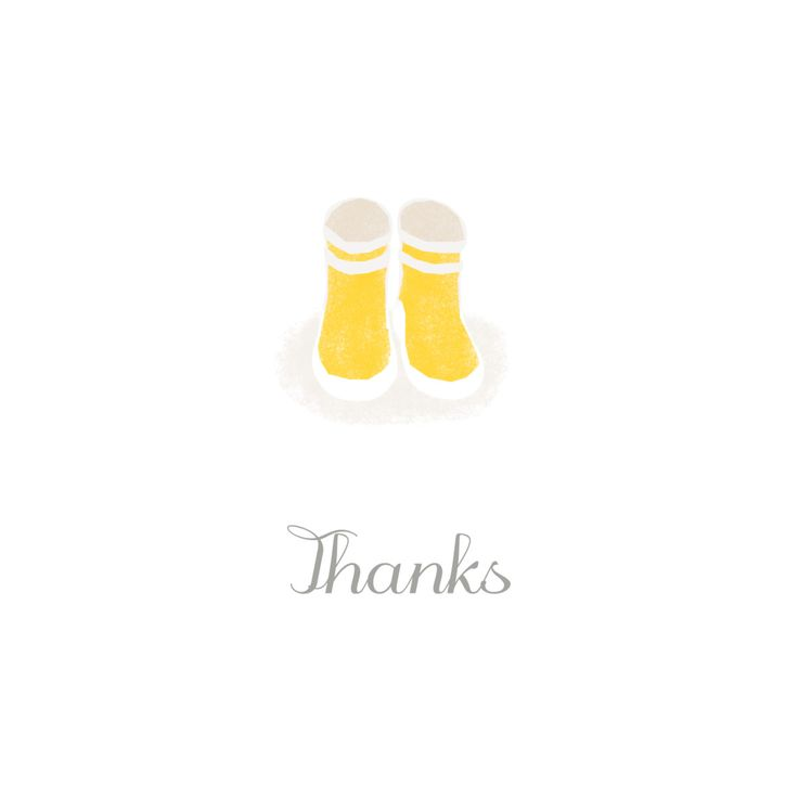 Thank your friends and family for their gifts and well wishes following the birth of your baby with our Wellies thank you cards. Designed by Tomoë, these square thank you cards feature a darling illustration of a pair of wellie boots. #babystationery #babythankyoucards #personalisedbabythankyoucards