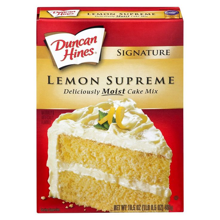Duncan Hines Moist Deluxe Lemon Supreme Premium Cake Mix 18.25 oz