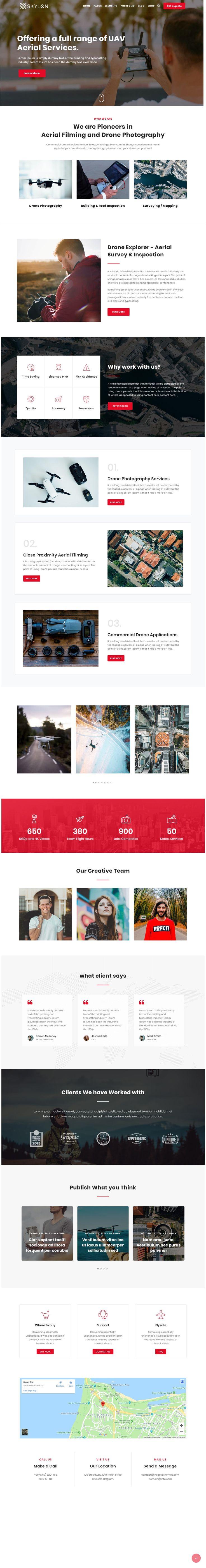 Skylon – Drone Aerial Photography & Videography WordPress Theme