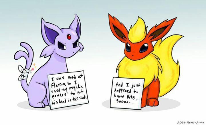 Pokemon Shaming- Flareon/ Espeon