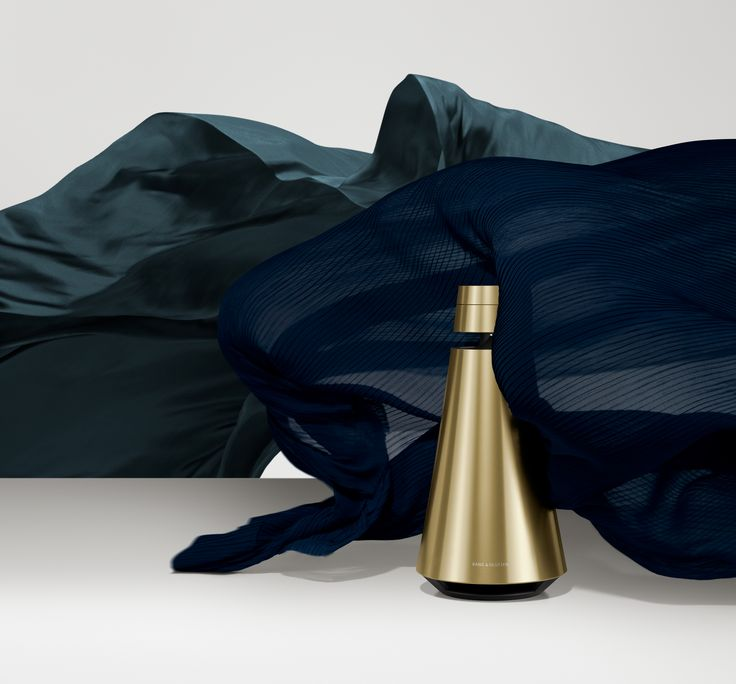 BeoSound 1 solid aluminium exterior wearing the Brass color for a warmer and more colorful home!