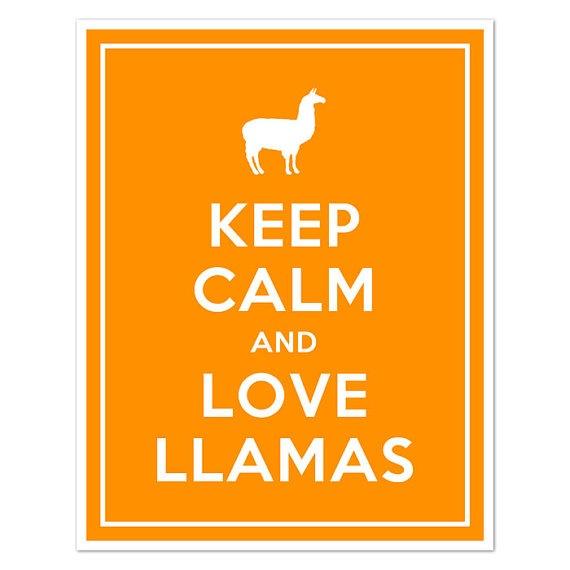 Keep Calm And Love Llamas
