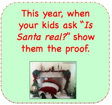 """So cute ... download a picture of Santa coming down your very own chimney...!!  / Did you know You can Add Santa to """"Your"""" photos for pure Holiday Magic! Try it out for Free at Capturethemagic.com"""