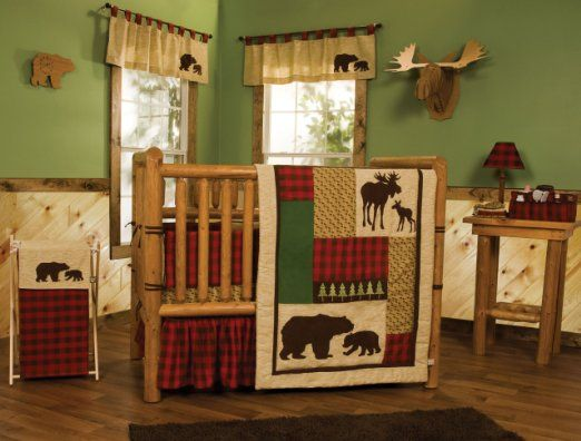 Amazon Com Trend Lab Northwoods 3 Piece Crib Bedding Set