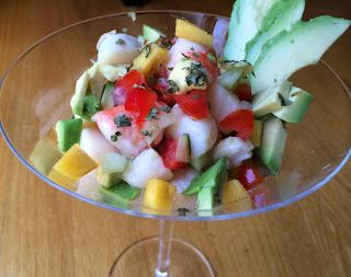 Easy Ceviche with Shrimp and Scallops Recipe