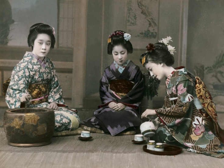 Japanese girls in the 1990s. photo by Eliza Scidmore