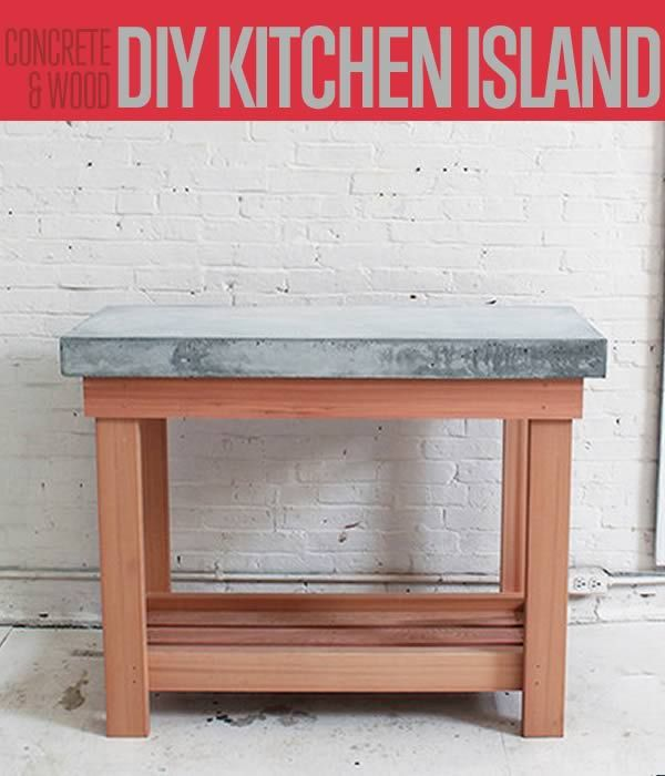 DIY Rustic Kitchen Island | This is a great project that would make a great addition to your kitchen. #DiyReady www.diyready.com