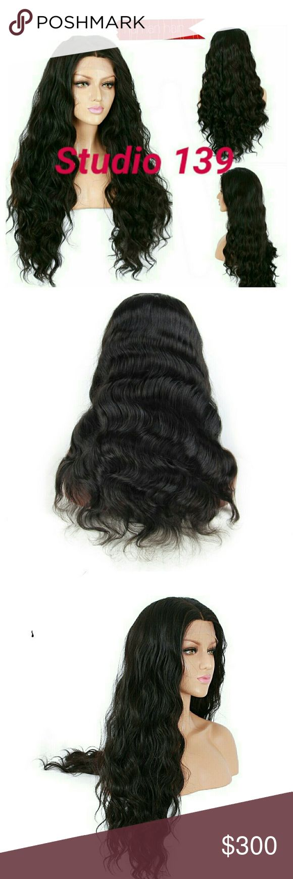 Sexy human hair body wave Lace front wig Sexy black body wave lace front wig this unit can be dyed any color or straighten out life span for this hair is 3+ years Accessories Hair Accessories