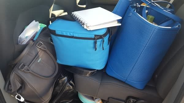 Seriously!!! How many bags do I need??? Laptop bag, notary bag, lunch bag, gym bag, purse & don't forget the #everythingisinthere notebook! #oneday #bagsgalore #realtorlife #stayfit #eatright #dothework