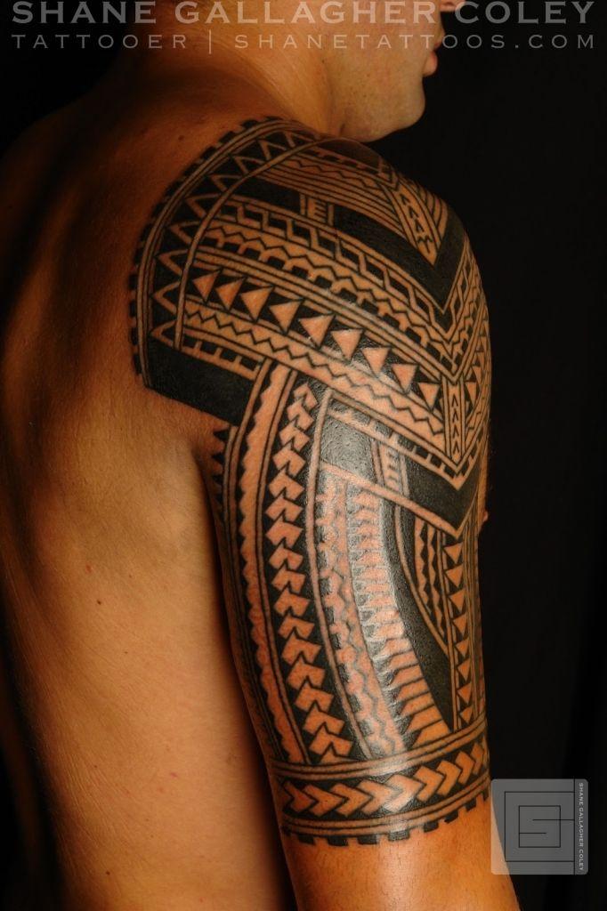 cool Hawaiian Tribal Tattoos Ärmel