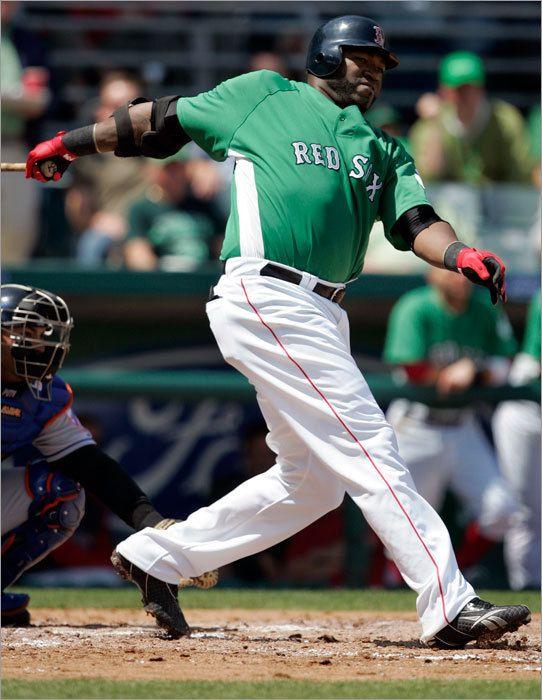 official photos 00e90 88d36 boston red sox 34 david ortiz 2013 green jersey