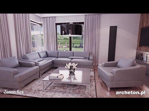 Projekt domu Tamara - archeton pl - parterowy 195,7 m2 - YouTube