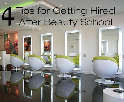 Get a job after beauty school!