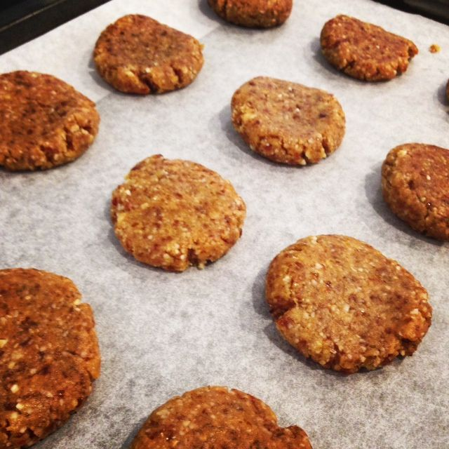 Vegan wholefood Chewy Salted Caramel Cookies, thermomix recipe