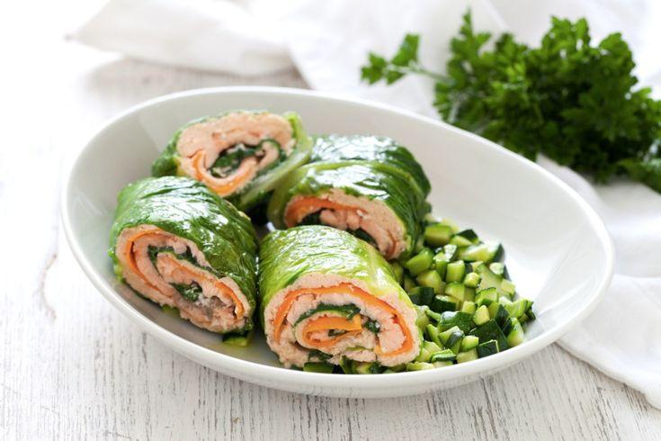 Salmone con ragù di zucchine ricetta