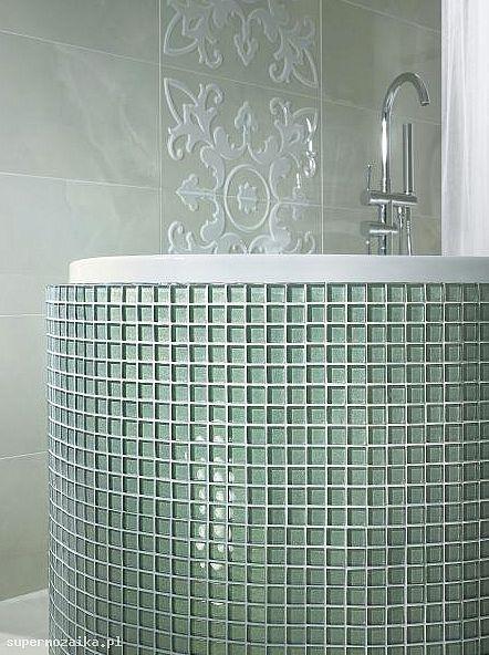 Mozaika szklana brokatowa - Primavera by Fabrizio Moretti - B118 biała