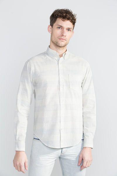 Cortefiel Camisa às riscas Cru