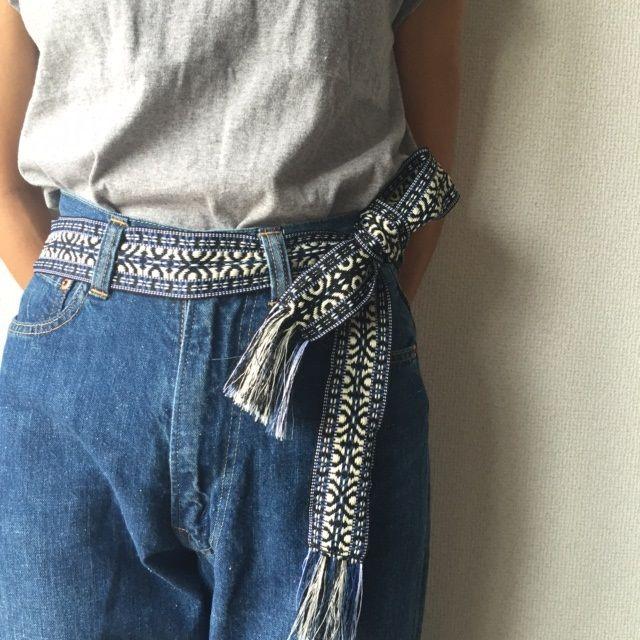 エトワールベルト 刺繍フリンジベルト ひもベルト 【Lavish Gate】 デザイン性と実用性を兼ね備えた素敵なアイテムです。