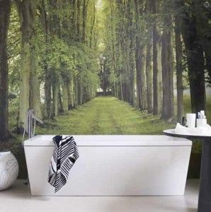 Behang je badkamer! - Behang: ideëen, tips en de nieuwste collecties. Behangwinkel
