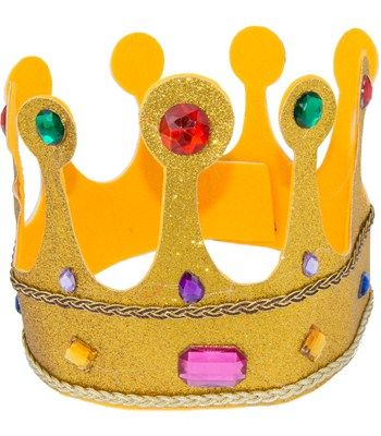 Gold Glitter Queen's Crown Image